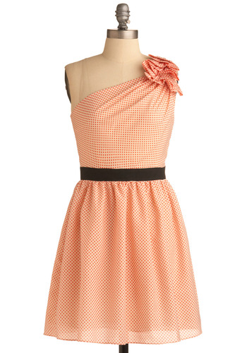 Halftone Honey Dress | Mod Retro Vintage Printed Dresses | ModCloth.com