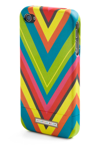 Surfing Style iPhone 4 Case - Multi, Red, Orange, Yellow, Green, Blue, Pink, Grey, Herringbone, Spring, Summer