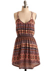 My Style Pill Dress - Multi, Casual, Boho, A-line, Spaghetti Straps, Spring, Summer, Pink, Mid-length