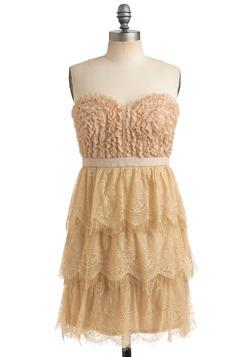 Even Butter-scotch Dress