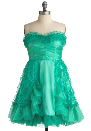 Emerald Pretty Dress | Mod Retro Vintage Printed Dresses | ModCloth.com