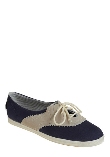Seasteader Sneaker by Keds - Blue, Cream, Casual, Urban, Summer, Nautical, Rockabilly