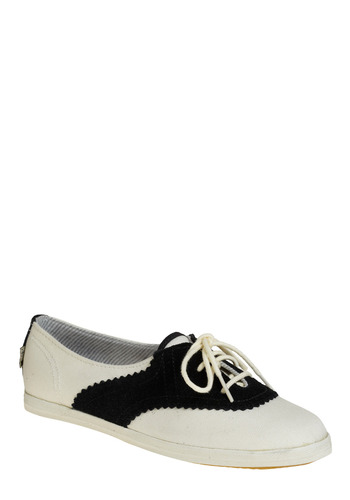 Seasteader Sneaker in Schooner by Keds - White, Black, Casual, Vintage Inspired, Spring, Summer, Fall