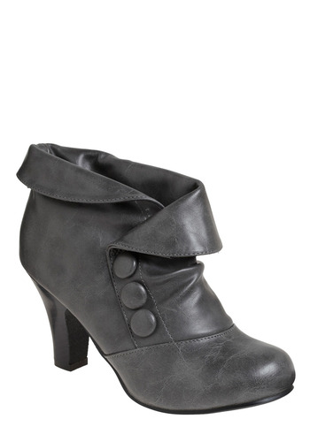 You're the Char-coolest Bootie | Mod Retro Vintage Boots | ModCloth.com :  gathering charcoal slouchy foldover