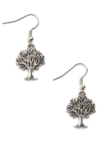 The Perfect Tree-t Earrings - Silver, Casual
