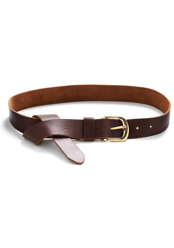 Instant Classic Belt - Brown, Gold, Solid, Buckles, Casual, Spring, Summer, Fall, Menswear Inspired