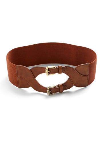 Securely Stylish Belt - Brown, Solid, Buckles, Casual, Spring, Summer, Fall, Boho