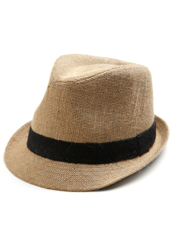 Fedora-ble Hat - Tan, Black, Casual, Menswear Inspired, Spring, Summer