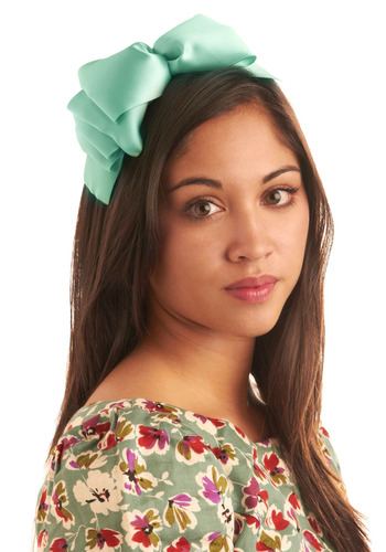 Make a State-mint Headband - Green, Solid, Bows, Formal, Prom, Wedding, Party, Casual, Vintage Inspired, Spring, Summer