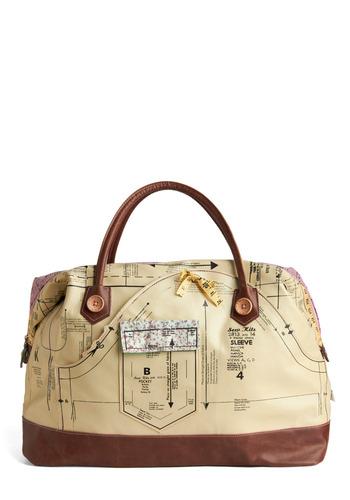 Holding Pattern Overnight Bag