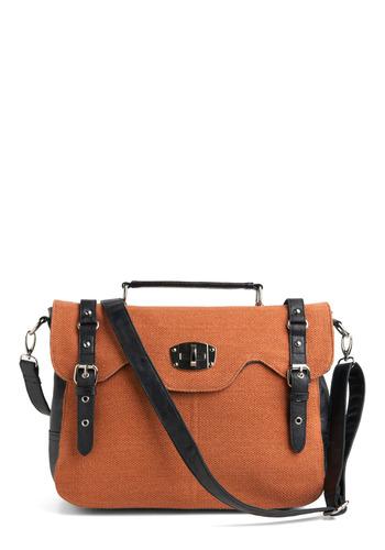 Persimmon Poise Satchel | Mod Retro Vintage Bags | ModCloth.com :  snaps silver accents satchel carryall