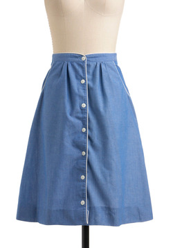 Vintage Chambray It Ain't So Skirt