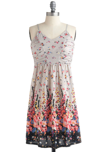 Gladiola to Meet You Dress | Mod Retro Vintage Printed Dresses | ModCloth.com