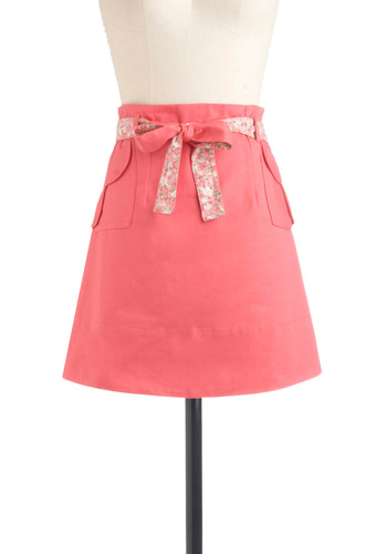 Pavilion Party Skirt | Mod Retro Vintage Skirts | ModCloth.com :  cheery floral accents sunny sash
