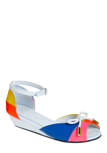 The Color Wheel Deal Wedge by Lola Ramona - Multi, Casual, Spring, Summer, Wedge