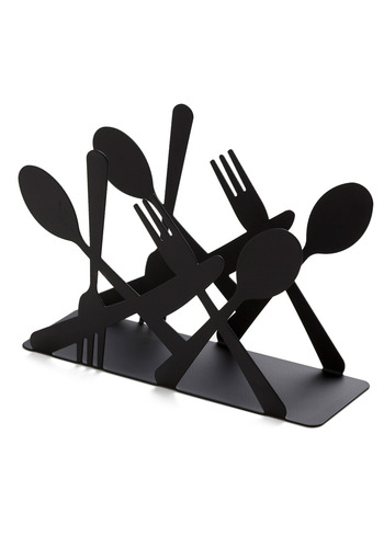 Utensil-houette Napkin Holder - Black
