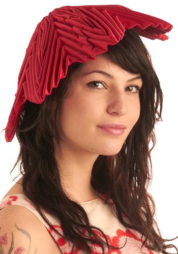 Dahlia Darling Hat | Mod Retro Vintage Hats | ModCloth.com :  shimmery silk blend dahlia folds