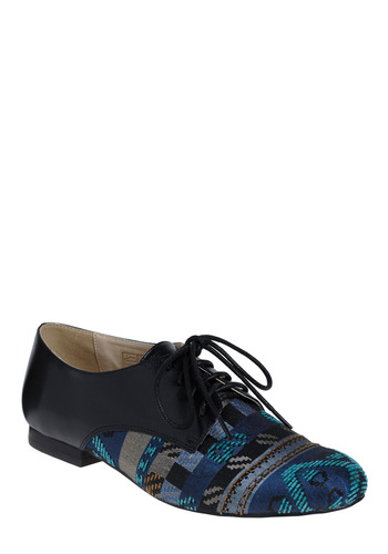Arco Iris Flat - Blue, Black, Tan / Cream, Print, Party, Casual, Menswear Inspired