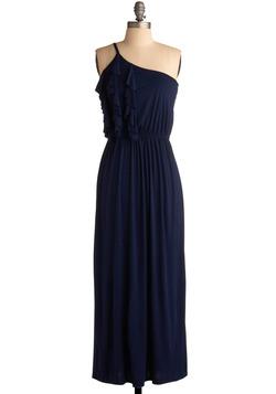 Shoulder Maxi Dress on Blue One Shoulder Dress   Modcloth Com
