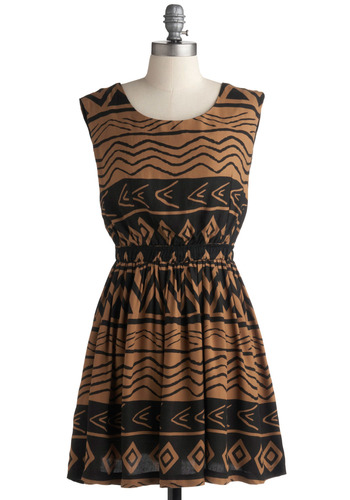 Taking It All Inlet Dress | Mod Retro Vintage Printed Dresses | ModCloth.com