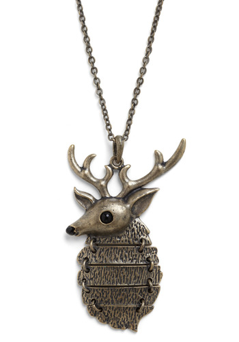 Near and Deer Necklace - Gold, Chain