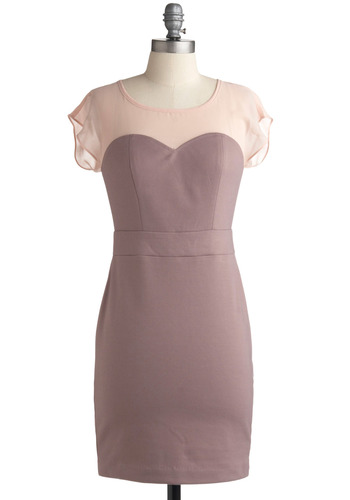 Beauty Blogger Dress - Purple, Pink, Party, Casual, Sheath / Shift, Short Sleeves, Mid-length