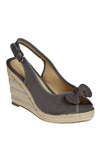 Espadrille Sergeant Wedge - Grey, Bows, Casual, Spring, Summer, Wedge