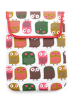 A Nested Development iPad Sleeve - White, Multi, Print with Animals, Dorm Decor, Owls
