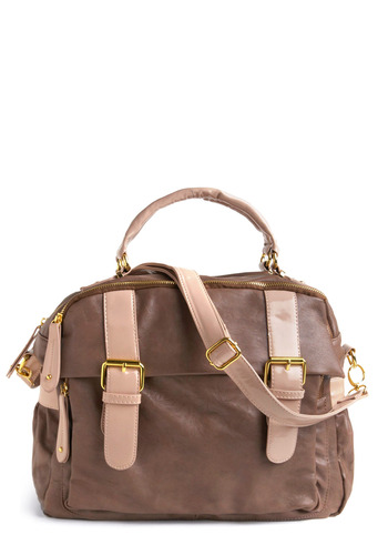 You Got This Bag - Brown, Pink, Buckles, Casual, Urban