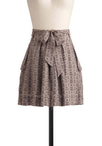 Hamptons Hostess Skirt | Mod Retro Vintage Skirts | ModCloth.com :  sweet side pockets brown pleats