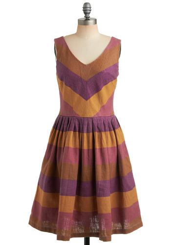 Beach House Barbecue Dress in Luau | Mod Retro Vintage Printed Dresses | ModCloth.com :  cheery sweet ochre retro