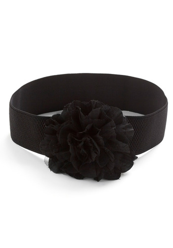Aromatic Adornment Belt - Black, Solid, Flower, Party, Work, Casual