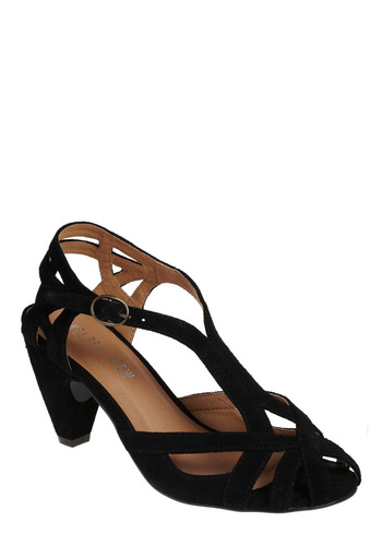 The Chosen Few Heel in Black - Black, Solid, Cutout, Wedding, Party, Work, Casual
