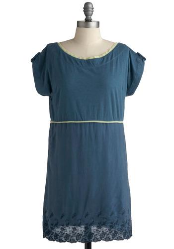 From Dawn Teal Dusk Dress | Mod Retro Vintage Solid Dresses | ModCloth.com :  floral teal lime silk blend