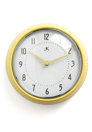 Time to Deco-rate Clock in Sun - Yellow, Dorm Decor