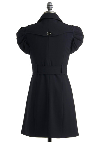 Trench in the Works Dress | Mod Retro Vintage Solid Dresses | ModCloth.com