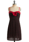 Seen on Set Dress - Bows, Casual, Sheath / Shift, Spaghetti Straps, Mid-length, Red, Black, Sweetheart, Summer