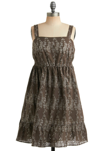 Earthy Angel Dress | Mod Retro Vintage Printed Dresses | ModCloth.com :  light blue babydoll boho empire waist