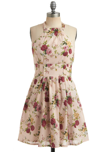 Coming Up Rosy Dress | Mod Retro Vintage Printed Dresses | ModCloth.com from modcloth.com