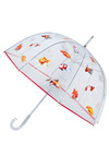 Big Fish Umbrella - White, Red, Orange, Yellow, Pink, Brown, Black, Print with Animals, Casual