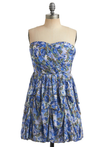 Lakeshore Living Dress | Mod Retro Vintage Printed Dresses | ModCloth.com :  floral gathered mint pleated