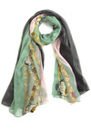 Too Hoot For Words Scarf - Green, Pink, Grey, Multi, Print with Animals, Casual, Owls