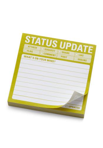 Status Update Sticky Notes - Multi, Dorm Decor