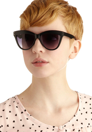 Bleecker Street Style Sunglasses - Black, Solid, Casual, Urban, Spring, Summer, Fall