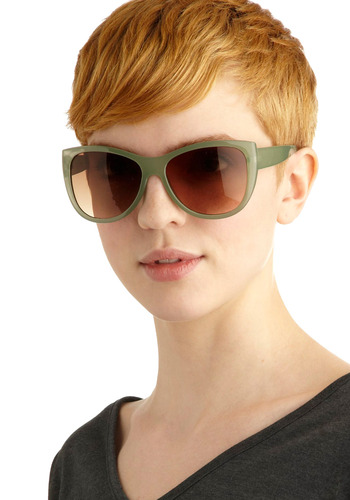 New Pal Sunglasses | Mod Retro Vintage Sunglasses | ModCloth.com :  peach plastic metallic caramel