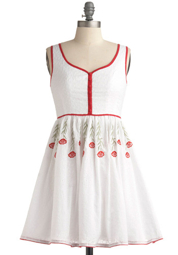 Corsage Keepsake Dress | Mod Retro Vintage Printed Dresses | ModCloth.com :  piping tulle flouncy summer dress