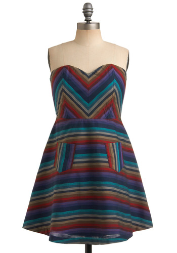 Takes All Stripes Dress Mod Retro Vintage Printed Dresses ModCloth com from modcloth.com