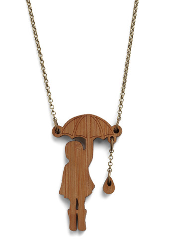 Forecast a Spell Necklace - Brown, Casual