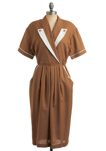 Vintage Mocha Me Crazy Dress