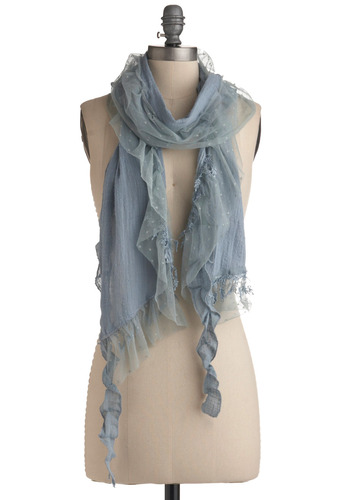 'Tis the Sea-son Scarf | Mod Retro Vintage Scarves | ModCloth.com :  fluttery muted scarf breezy